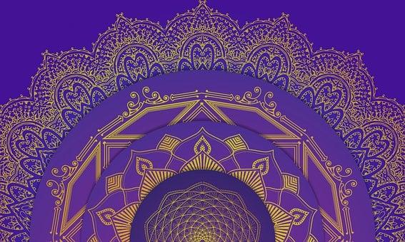 Mandala, Pattern, Design, Symbol, Icon, Gradient