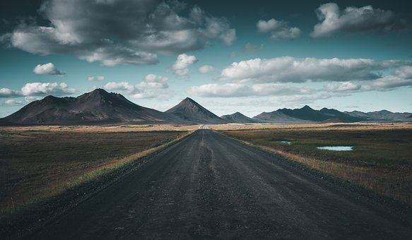 Landscape, Road, Mountains, Mountain Range, Countryside