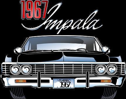 Car, Vehicle, Automobile, Impala, Vintage, Retro