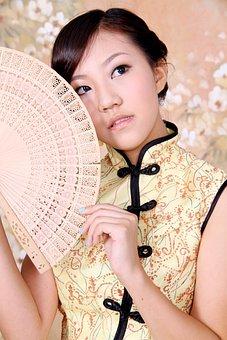 Model, Cheongsam, Asian Girl, Portrait, Asian, Lady