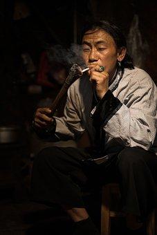Asian Man Smoking, Asian Man, Smoking, Man, Cigarette