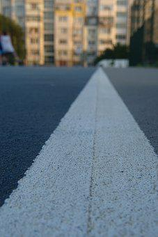 Asphalt, Ground, Line, Court, Game, Play, Outdoors