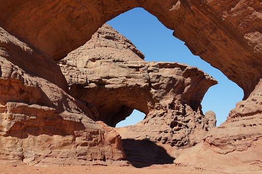 Rock Formation, Hoodoo, Desert, Barren, Algeria, Sahara