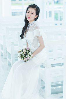 Wedding Dress, Woman, Bride, Young Woman, Girl