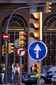 Traffic Lights, Traffic Signs, Traffic, Street, Cars