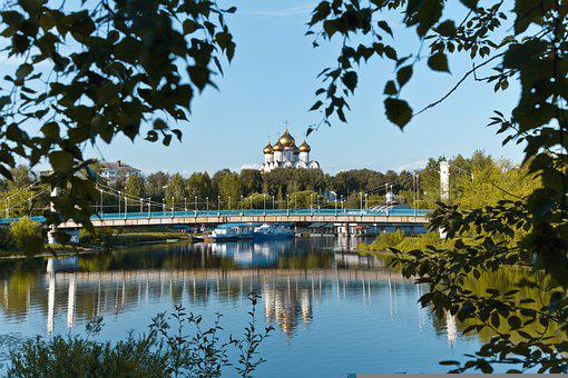 River, Church, Reflection, City, Sky, Tourism, Trip