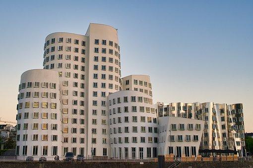 Media Harbour, Düsseldorf, Architecture, Buildings
