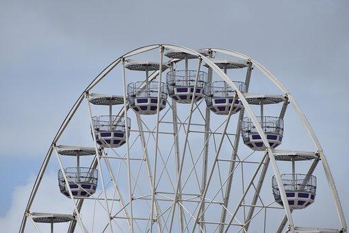 Ferris Wheel, Wheel, Amusement Park, Ride, Park