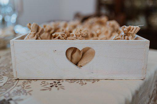Box, Wood, Heart, Shape, Decorative, Decoration
