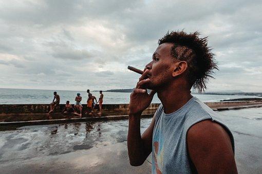 Man, Cigar, Coast, People, Crowd, Human