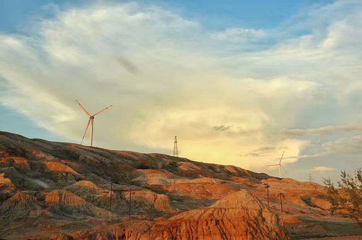 Windmills, Landforms, Rock Formations, Wind Turbine