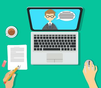 Laptop, Screen, Desk, Student, Cup, Mug, Pencil, Notes