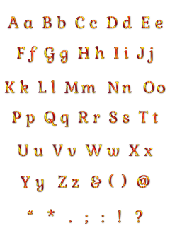 Alphabet, Letters, Punctuation Marks