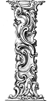 Letter I, Alphabet, Typography, Font, Line Art