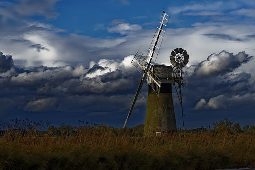 Windmill, Mill, Old Windmill, Turbine, Wind Turbine