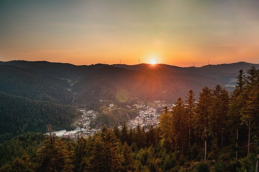 Black Forest, Mountain Range, Mountains, Trees, Forest