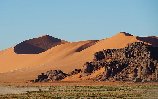 Dunes, Desert, Rock Formation, Mesa, Sand, Hoodoo