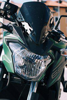 Motorcycle, Vehicle, Bike, Front, Spotlight, Chrome