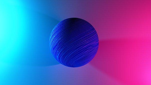Ball, Sphere, Texture, Tech, 3d, Futuristic, Wallpaper