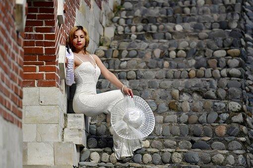 Woman, Bride, Fashion, Model, Long Dress, White Dress