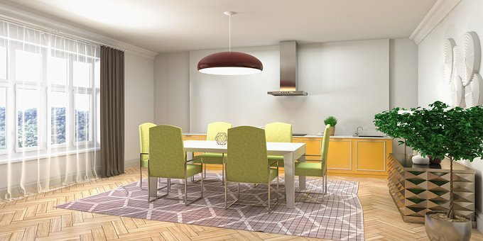 Kitchen, Interior Design, 3d Rendered, 3d Rendering