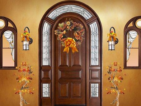 Door, Closed Door, Front Door, Entrance, Portal