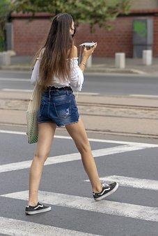 Girl Crossing The Street, Girl, Crossing The Street