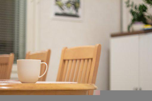 Dining Room, Dining Table, Chairs, Table, Mug