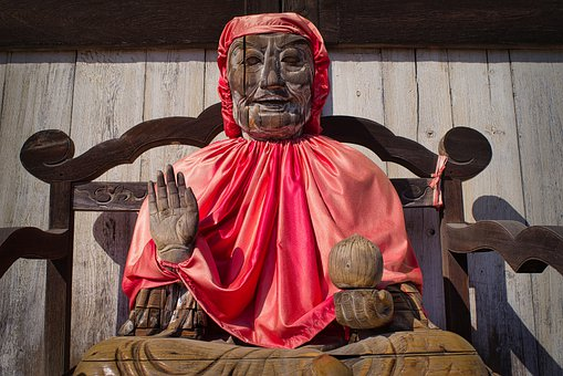 Statue, Sculpture, Figure, Divinity, Wood, Buddhism