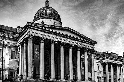Museum, Building, Columns, Pillars, Dome