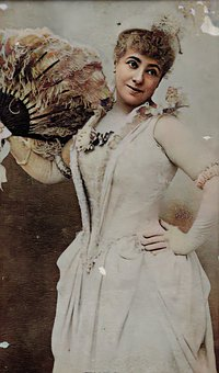 Actress, Woman, Lady, Dress, Hat, Victorian, Vintage
