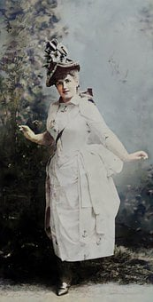 Actress, Woman, Lady, Dress, Hat, Victorian, Vintage