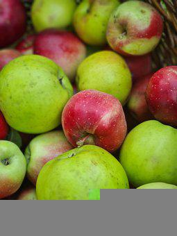 Apples, Fruits, Food, Green Apples, Red Apples, Healthy