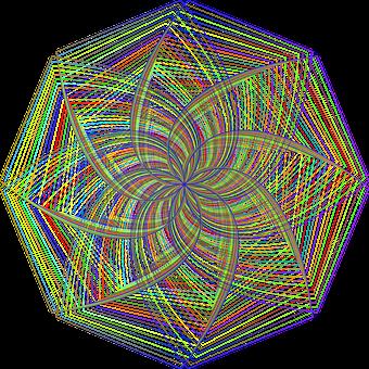 Mandala, Geometric, Ornamental, Line Art, Decorative