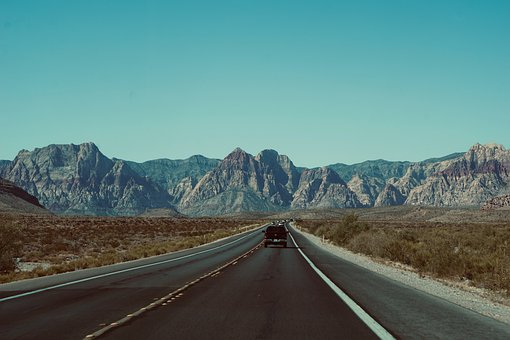 Road, Car, Trip, Desert, Mountain, Highway, Landscape