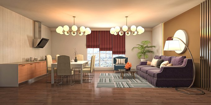 Room, Interior Design, 3d Rendered, 3d Rendering, Decor