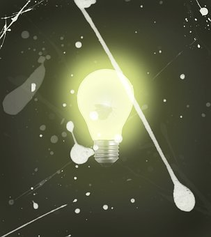 Lightbulb, Bulb, Moth, Light, Illuminated, Icon