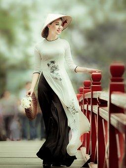 Woman, Long Dress, Fashion, Long Gown, Ao Dai, Beauty