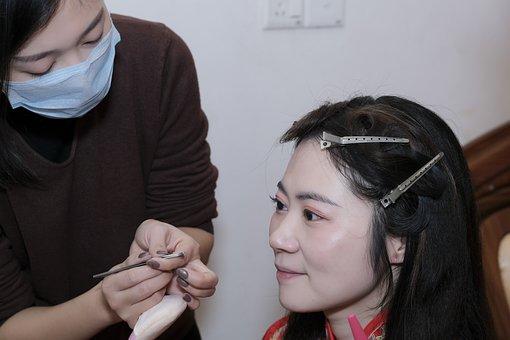 Asian Bride, Makeup, Applying Makeup