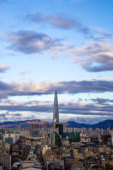 Lotte Tower, Tower, Cityscape, City, Urban, Modern