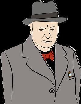 Man, Suit, Serious, Face, Bowtie, Hat, Cigar, Formal