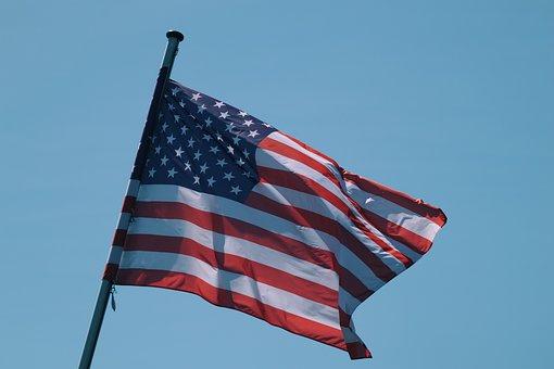 American Flag, Flag, Usa, America