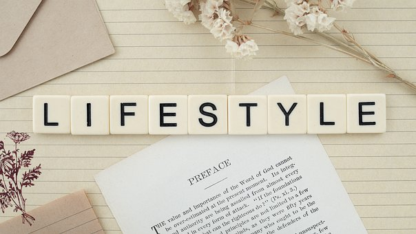 Lifestyle, Word, Letters, Flowers, Flat-lay, Life Hack