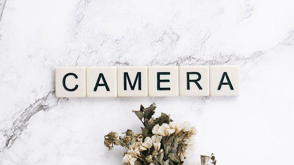 Camera, Tool, Equipment, Word, Letters, Flat-lay