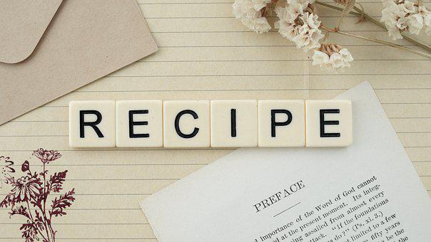 Recipe, Food, Nutrition, Word, Letters, Flowers
