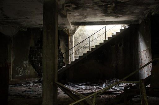 Ruin, Stairs, Abandoned, Destroyed, Broken, Dirty