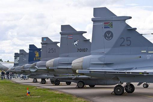Air Force, Jas 39, Griffin, Aircraft, Fighter, Himmel