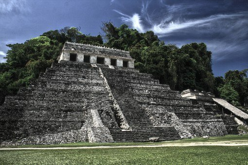 Pyramid, Palenque, Ancient, Temple, Architecture