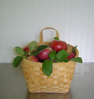 Fruits, Baskets, Apples, Red, Delicious, Foods, Bags