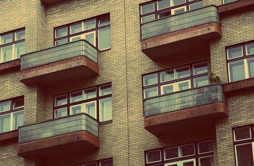 Apartments, Condos, Flats, Balconies, Windows, Building